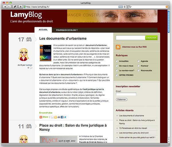 lamyblog.fr un concentré d'actualités pour les juristes
