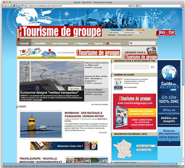Un site pour les professionnels du tourisme