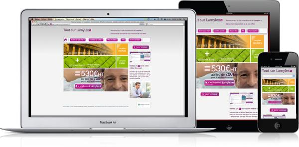 Lamylex +, un site Responsive Webdesign