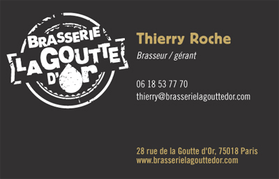 Carte De Visite Brasserie La Goutte Dor 1