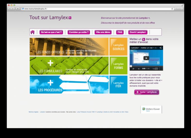 Site web Lamylex + Screenshot