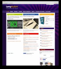 Site web Lamy étudiant Aperçu