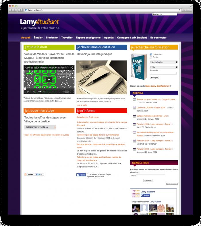 Site Lamy étudiant