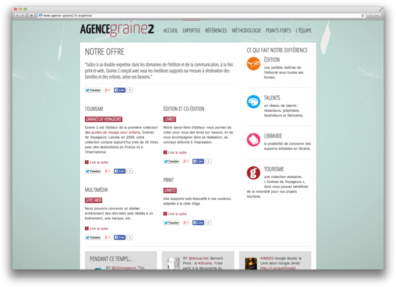 Site web Graine2 Screenshot