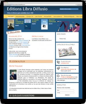 Site Ecommerce des Éditions Libra Diffusio
