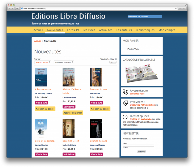 Site web Libra Diffusio Screenshot 2