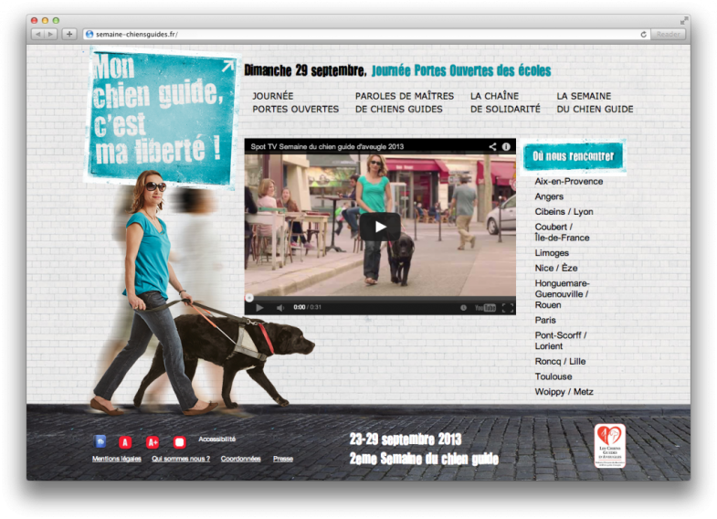 Site Chiens Guides Screenshot