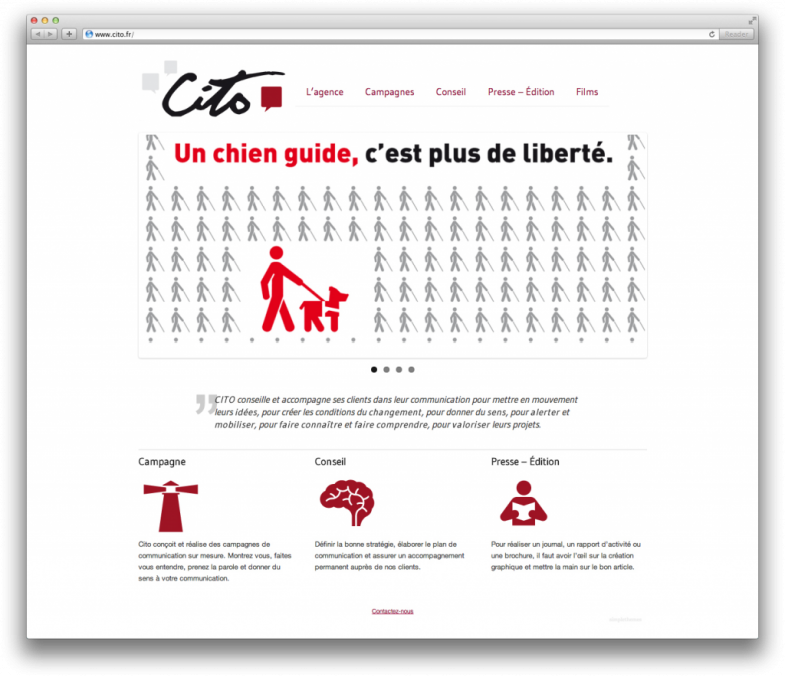 Site web Cito Screenshot 1