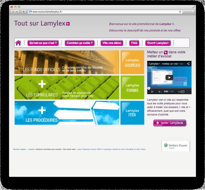 Site web responsive Lamylex +