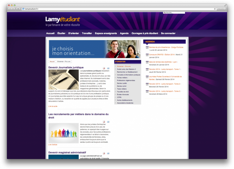 Site web Lamy étudiant Screenshot 1