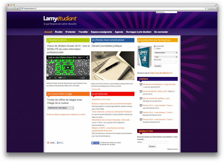 Site web Lamy étudiant Screenshot 2