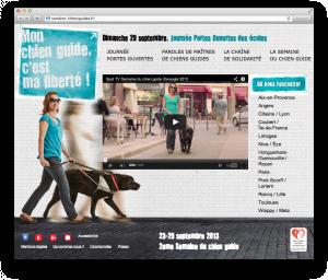 Site internet  : Semaine du chien guide