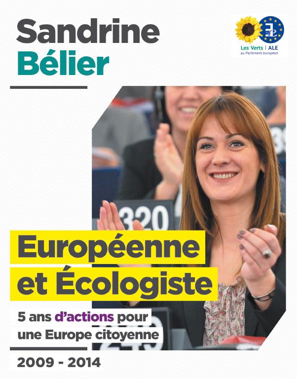Le bilan de Sandrine Bélier au Parlement Européen