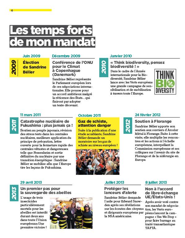Europe Ecologie Sandrine Bélier rapport