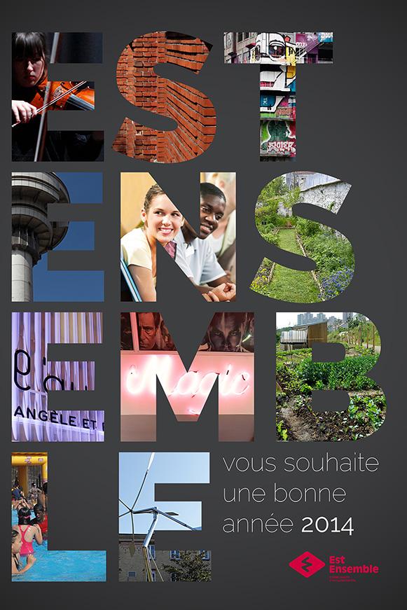 Affiche des Vœux 2014, Est Ensemble