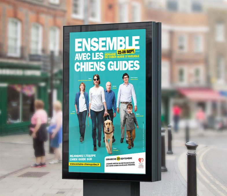 Affiche Semaine-chien-Guide d'aveugle 2014