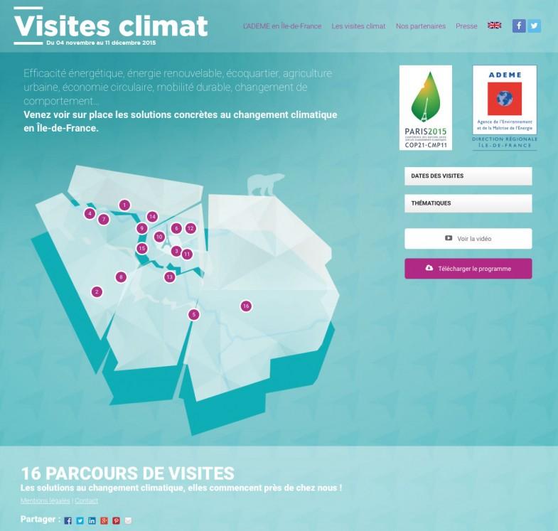 Visites Climat ADEME web parcours COP21