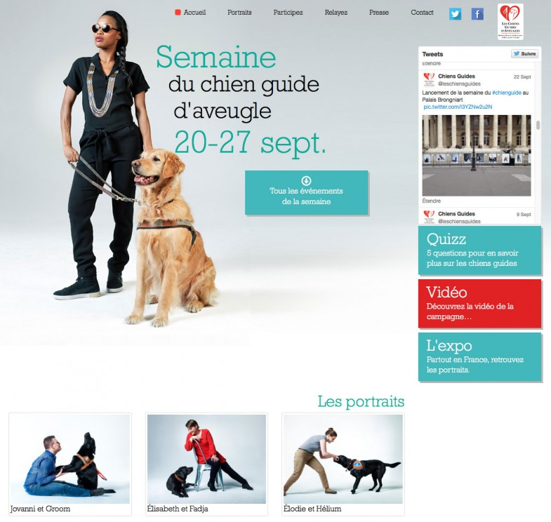 Semaine chien guide aveugle 2015 Affiche